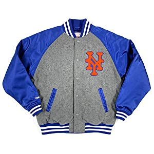 MLB New York Mets Triple Play Wool Jacket Mitchell & Ness Cooperstown Mens 2XL by Mitchell & Ness