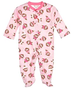 "Baby Starters ""Sock Monkey Ballerina"" Footed Coverall"