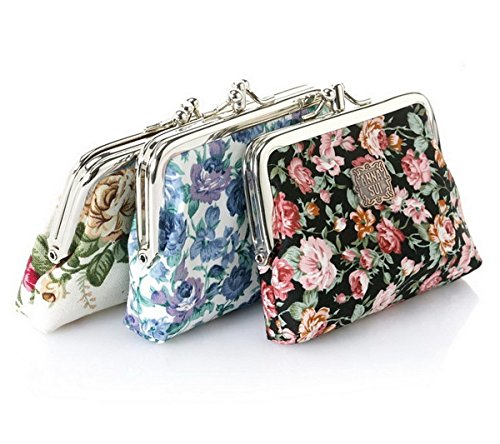 Cute Classic Floral Exquisite Buckle Coin Purse- Random Color