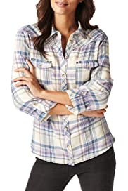 Indigo Collection Pure Cotton Tennessee Checked Shirt [T66-9128-S]