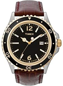 Timex Mens Classic Brown Leather Strap Watch - T2M564PF