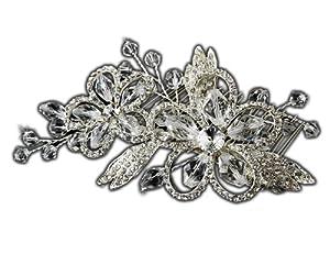 Bridal Comb Swarovski Crystal & Rhinestones Silver-Tone Hair Comb