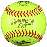Trump® FP-11Y-ISA 11 Inch Leather .47 Core ISA Approved Fastpitch Softball (Sold in Dozens)