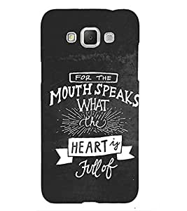 Mouth speaks Back Case Cover for Samsung Galaxy Grand i9080:::Samsung Galaxy Grand i9082