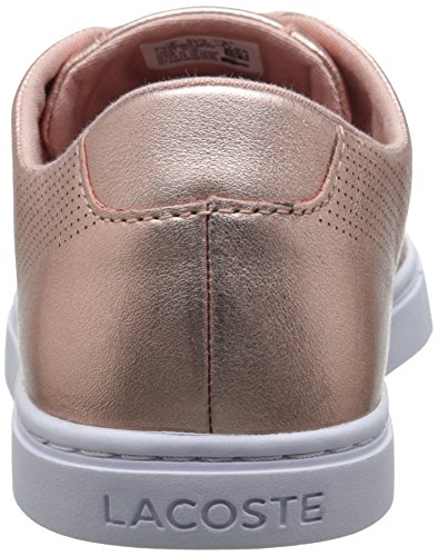 Lacoste Women's Showcourt Lace Fashion Sneaker, Pink, 8 M US