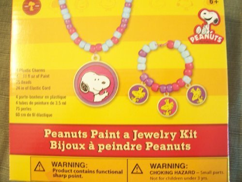 Peanuts Paint Your Own Jewelry Kit.