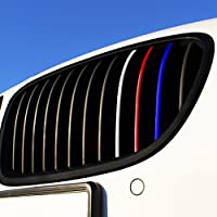 Wandkings Grille Stripe Decals for Kidney Grills - REFLECTIVE Colors (Dark Blue, Red, White-Silver, Light Blue) from Wandkings