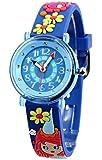 Baby Watch - 606085 - Fée - Montre Fille - Quartz Pédagogique - Cadran Bleu - Bracelet Plastique Multicolore