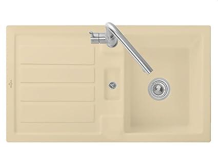Villeroy & Boch Flavia 50 Sand Beige Edition Basin Kitchen Sink Ceramic Sink