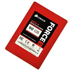 Corsair Force Series GT Red 90GB  (6Gb/s) SATA 3 SF2200 controller Synchronous SSD (CSSD-F90GBGT-BK)