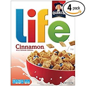 4-Pack of 13-Oz. Life Cinnamon Multigrain Cereal $8.67