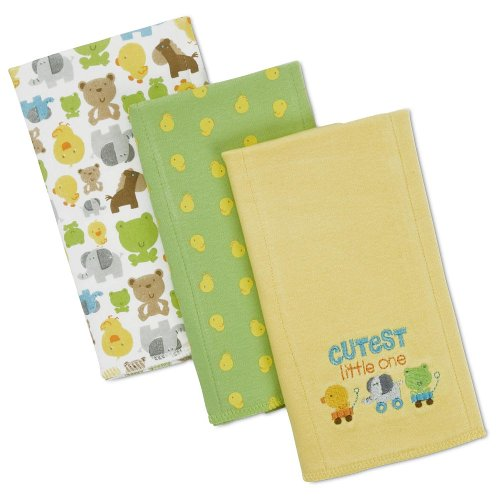 Gerber Interlock Burp Cloth - 'Cutest' - 3 Pack front-751862