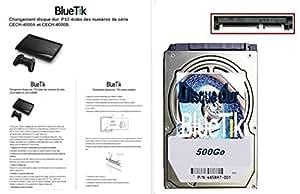 BLUETIK - Disque dur interne 500 Go pour Playstation 3 / PS3 / PS3 Slim / PS3 FAT - AVEC NOTICE PAPIER EN FRANCAIS - 500Go