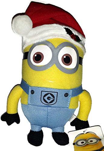 Christmas Minion Dave 7 Inch (Small) Stuffed Plush Doll Despicable Me Santa Elf Hat