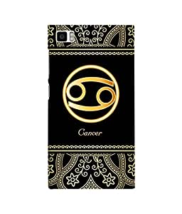 Fuson 3D Printed Sunsign Cancer Designer back case cover for Xiaomi Mi 3 - D4249