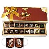 Chocholik Belgium Chocolates - 16pc Perfect Combo Of Taste And Charm With Diwali Special Coffee Mugs - Diwali...