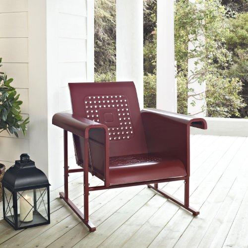 Red Retro Veranda Chair Glider - Classic Comfort front-89836