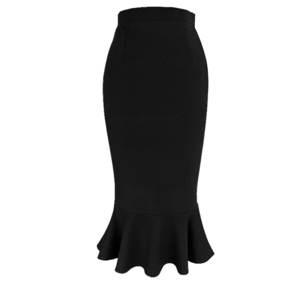 VfEmage Women's Vintage High Waist Wear To Work Bodycon Mermaid Pencil Skirt 2