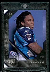 2008 Upper Deck (UD) Rookie Premiere # 8 Chris Johnson (RB) RC - Rookie Card - Tennessee Titans - NFL Trading Card - In Protective Scew Down Display Case