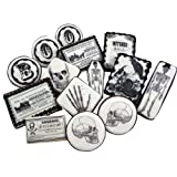 Fancy Flours Vintage Halloween Black & White Wafer Paper