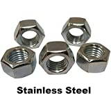 "100pcs 18-8 Stainless Steel Finished / Finish Hex Nuts 1/4""-20"