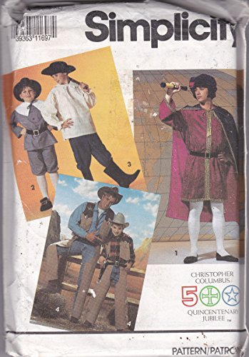Simplicity Pattern 7469 Christopher Columbus Costume Pattern Size A XS - 1