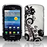 Black Vines Design Snap On Protector Hard Case for Samsung Stratosphere (SCH-i405) + 4.5 inches Screen/Lens Cleaning Cloth