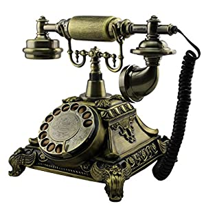 Antique Style Rotary Dial Desk Telephone Phone Home Living Room Decor
