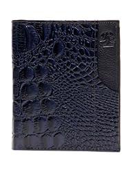 RL W 39- Bl Blue Leather Miller Wallet For Men