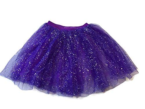 [Rush Dance Ballerina Girls Dress-Up Sparkling Glitter Costume Recital Tutu (One Size, Purple)] (Cute Dance Recital Costumes)
