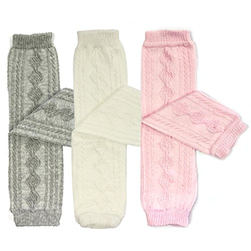 bowbear-3-pair-little-girls-cable-knit-argyle-leg-warmers-white-pink-and-grey