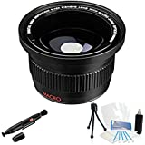 UltraPro 0.42x HD Super Wide Angle Panoramic Macro Fisheye Lens For The Canon Powershot SX30 IS, SX40 HS, SX20...
