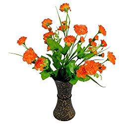 Thefancymart Artificial Carnation Flowers With Designer Pot Style Code - FP-184