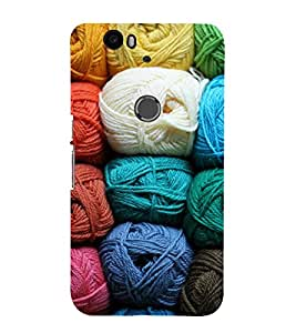 Colourful Threads 3D Hard Polycarbonate Designer Back Case Cover for Huawei Nexus 6P :: Huawei Google Nexus 6P