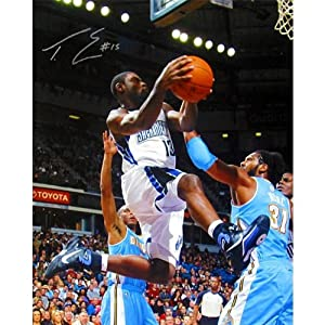 Signed Evans Photograph - Vs Denver Nuggets 16x20 - Autographed NBA Photos by Sports+Memorabilia