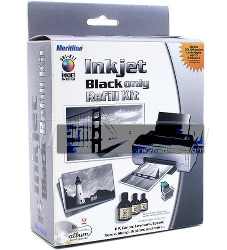 Uni-Kit Black Inkjet Refill Kit (Refills 3-10