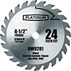 1 Piece 4-1/2-inch Carbide Tipped Circular Saw Blades for ROCKWELL RK3441K RW9281. 24t (24 Tooth) Carbide Blades Designed for the Rockwell RK3441K RW9281.