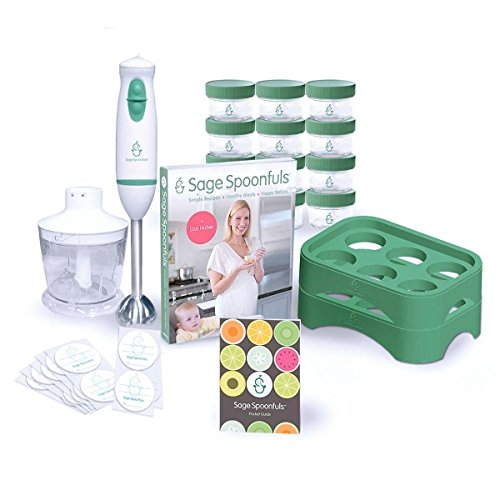 Sage Spoonfuls Let'S Get Started Glass-Storage 19-Pc. Baby Food Making Package front-186914