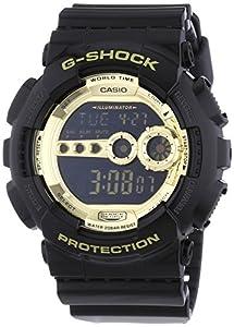 Casio G-Shock Digital Quarz Herren Uhr Schwarz Gold GD-100GB-1ER