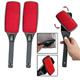 (2 Pack) Magic Lint Brush Pet Hair Remover Clothing with Swivel