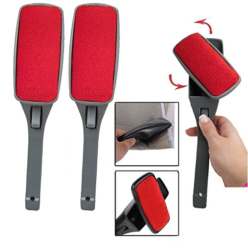 (2 Pack) Magic Lint Brush Pet Hair Remover Clothing with Swivel (Clothing Lint Brush compare prices)