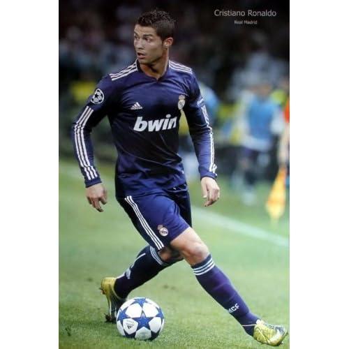 Amazon.com : Cristiano Ronaldo blue jersey POSTER 23.5 x