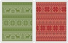 Sizzix Texture Fades - Carpetas para estampar (2 unidades, A2), diseño de puntos