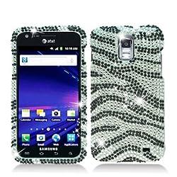 Full Diamond Bling Hard Shell Case for Samsung Galaxy S II Skyrocket i727 [AT&T] (Zebra - Black & White)
