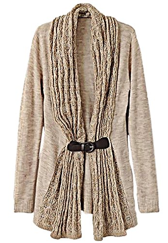 Carolina Women'S Stylish Knitted Sweater With Pu Leather Sash Soft Pullover Sw20, Small