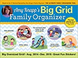 img - for 2015 Amy Knapp's Big Grid Family Wall Calendar: The essential organization and communication tool for the entire family book / textbook / text book