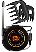 Maverick Redi-Chek Direct Connect Kitchen Thermometer - Compatible with iOS and Android Smartphone and Tablets - Download App from App Store or Google Play - Black including Bonus Meat Handler Bear Claw Style Forks - Also Used as a Pulled Pork Shredder