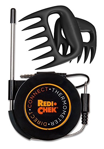 Best Deals! Maverick Redi-Chek Direct Connect Grilling Thermometer - Black including Bear Fork.