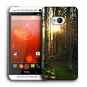 Snoogg Abstract Sunlight In Forest Printed Protective Phone Back Case Cover For HTC One M7