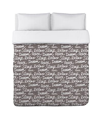 One Bella Casa All Over Sleep Words Duvet Cover